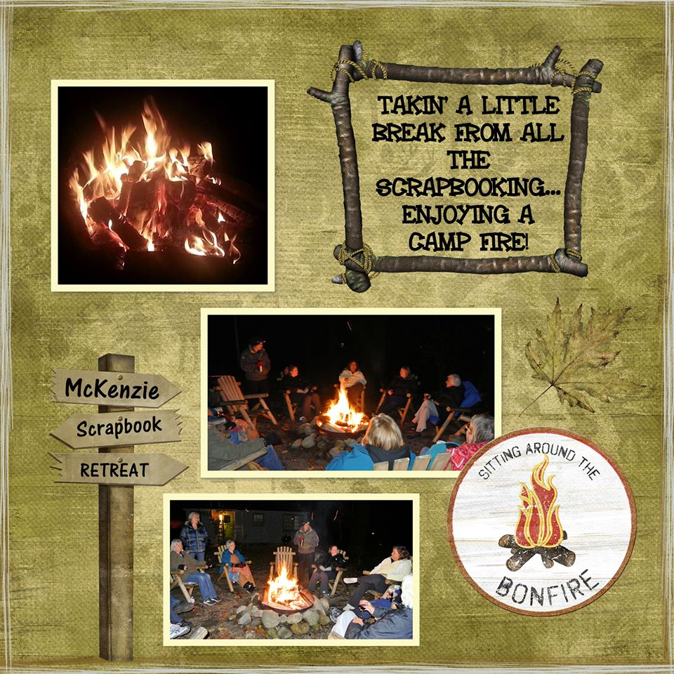 Scrap booking retreat - campfire